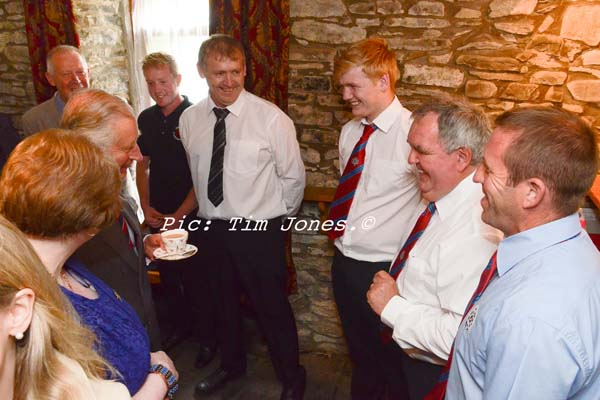 HRH The Prince of Wales meeting members of Fforest and Llanio Shooting Syndicate