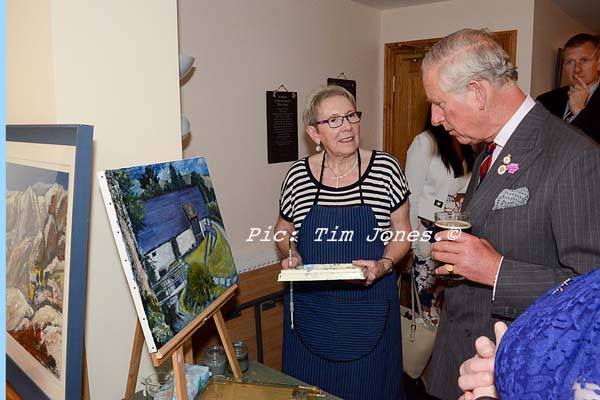 HRH The Prince of Wales meeting members of Mid Wales Art Group