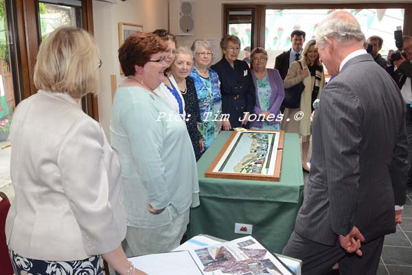 HRH The Prince of Wales meeting members of Llanddewi Brefi WI