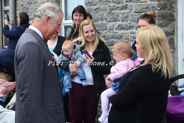 HRH The Prince of Wales meeting parents in the square