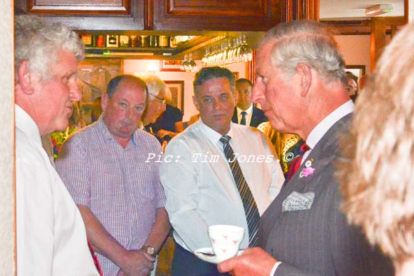 HRH The Prince of Wales meeting members of Llanddewi Brefi & District Clay Pigeon Club