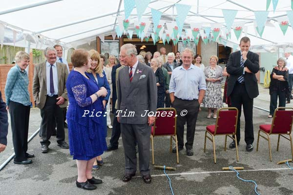 Landlady of The New Inn with HRH The Prince of Wales in the marquee
